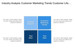 Industry Analysis Customer Marketing Trends Customer Life Tags