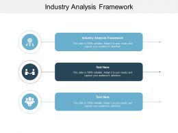 Industry Analysis Framework Ppt Powerpoint Presentation Summary Guide Cpb