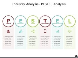 Industry Analysis Pestel Analysis Technological Ppt Powerpoint Presentation Model