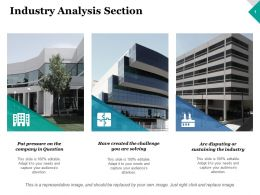 Industry Analysis Section Business Ppt Inspiration Design Inspiration