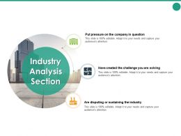 Industry Analysis Section Challenge Ppt Powerpoint Presentation Pictures Topics