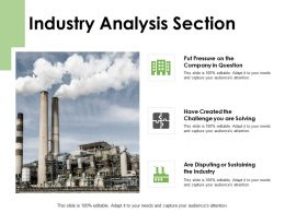 Industry Analysis Section Company Industry Ppt Powerpoint Presentation Pictures Icon