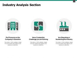 Industry Analysis Section Industry Ppt Powerpoint Presentation Pictures Gallery