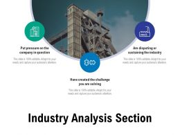 Industry Analysis Section Ppt Powerpoint Presentation Slides Example File