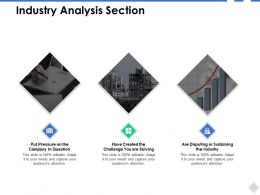Industry Analysis Section Sustaining Ppt Powerpoint Presentation File Show