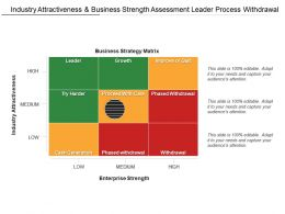 Industry Attractiveness And Business Strength Assessment Leader Process Withdrawal