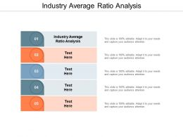 Industry Average Ratio Analysis Ppt Powerpoint Presentation Summary Elements Cpb