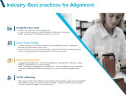 Industry Best Practices For Alignment Marketing Powerpoint Slides