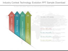 Industry Context Technology Evolution Ppt Sample Download