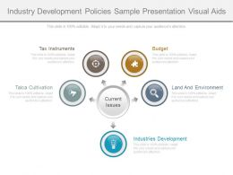Industry Development Policies Sample Presentation Visual Aids
