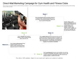 Industry Direct Mail Marketing Campaign For Gym Health And Fitness Clubs Ppt Slide Download