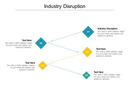 Industry Disruption Ppt Powerpoint Presentation Professional Demonstration Cpb