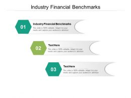 Industry Financial Benchmarks Ppt Powerpoint Presentation Visual Aids Show Cpb