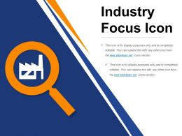Industry Focus Icon Ppt Ideas