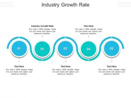 Industry Growth Rate Ppt Powerpoint Presentation Styles Visual Aids Cpb