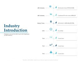 Industry Introduction M3264 Ppt Powerpoint Presentation Summary Example Introduction