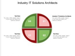 Industry IT Solutions Architects Ppt Powerpoint Presentation Model Designs Cpb