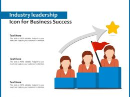 Industry Leadership Icon For Business Success