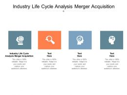 Industry Life Cycle Analysis Merger Acquisition Ppt Powerpoint Model Format Cpb