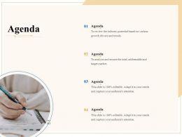 Industry Outlook Agenda Ppt Powerpoint Presentation Inspiration Vector