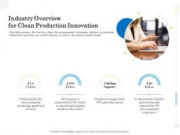 Industry Overview For Clean Production Innovation Clean Production Innovation Ppt Show