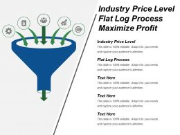 Industry Price Level Flat Log Process Maximize Profit