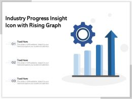 Industry Progress Insight Icon With Rising Graph