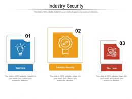 Industry Security Ppt Powerpoint Presentation Icon Show Cpb