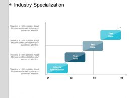 Industry Specialization Ppt Powerpoint Presentation Gallery Gridlines Cpb
