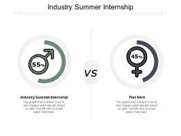 Industry Summer Internship Ppt Powerpoint Presentation Inspiration Professional Cpb