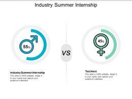 Industry Summer Internship Ppt Powerpoint Presentation Outline Display Cpb