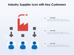 Industry Supplier Icon With Key Customers