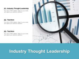 Industry Thought Leadership Ppt Powerpoint Presentation Show Slides Cpb
