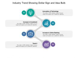 Industry Trend Showing Dollar Sign And Idea Bulb