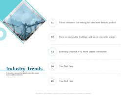 Industry Trends M3266 Ppt Powerpoint Presentation Pictures Model