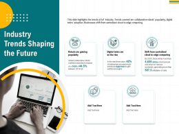 Industry Trends Shaping The Future Million Smart Ppt Powerpoint Presentation Model Show