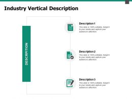 Industry Vertical Description Checklist Ppt Powerpoint Presentation Pictures Model