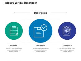 Industry Vertical Description Ppt Powerpoint Presentation Icon Templates