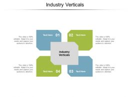 Industry Verticals Ppt Powerpoint Presentation Ideas Clipart Images Cpb
