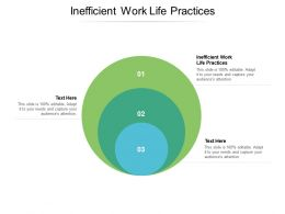 Inefficient Work Life Practices Ppt Powerpoint Presentation Infographic Background Cpb