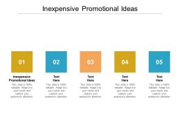 Inexpensive Promotional Ideas Ppt Powerpoint Presentation Gallery Layout Cpb