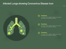 Infected Lungs Showing Coronavirus Disease Icon Ppt Powerpoint Presentation Professional Show