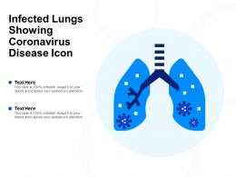 Infected Lungs Showing Coronavirus Disease Icon