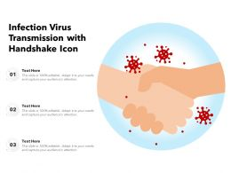 Infection Virus Transmission With Handshake Icon