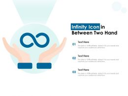Infinity Icon In Between Two Hand