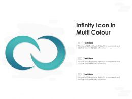 Infinity Icon In Multi Colour