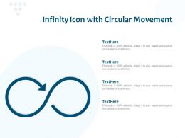 Infinity Icon With Circular Movement