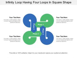 infinity loop having four loops in square shape