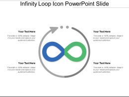infinity loop icon powerpoint slide