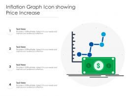 Inflation Graph Icon Showing Price Increase
